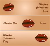 Happy Chocolate day. Vector illustration. Stock Photos
