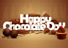 Happy Chocolate Day wallpaper background Stock Photography