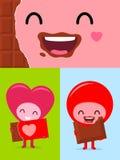 Happy Chocolate Face Stock Photo
