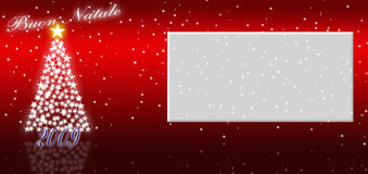 Happy Christmas. Greeting card for a good Christmas 2009 Royalty Free Stock Photo