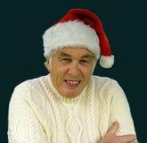 Happy Christmas. Grampa at Christmas royalty free stock image