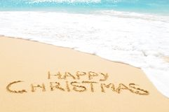 Happy Christmas on the beach Stock Image