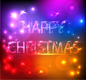 Happy Christmas Bright Effect. A colorful bright image to send your Christmas wishes. You can compose a banner or a gif. image with the other image of the same Royalty Free Stock Image
