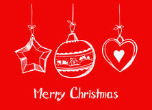 Happy Christmas card Stock Images