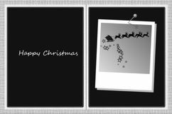 Happy christmas card Stock Photography