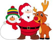Happy Christmas cartoon Stock Photos