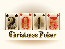 Happy Christmas Casino poker cards Stock Image