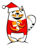 Happy christmas cat Stock Image