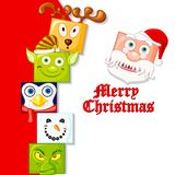 Happy Christmas Character Royalty Free Stock Image