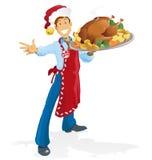 Happy Christmas Chef Stock Photo