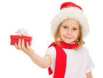 Happy Christmas child stock images