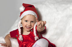Happy Christmas child Royalty Free Stock Photo