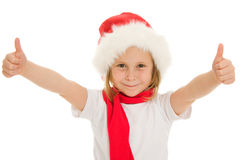 Happy Christmas child ok Royalty Free Stock Images