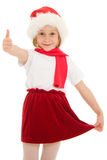 Happy Christmas child ok Stock Image