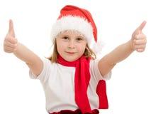 Happy Christmas child ok Stock Photography