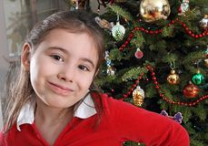 Happy Christmas child portrait Royalty Free Stock Photography
