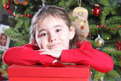 Happy Christmas child Royalty Free Stock Images