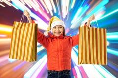 Happy christmas chopping Royalty Free Stock Photo