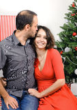 Happy Christmas couple Royalty Free Stock Photo