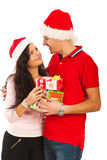 Happy Christmas couple Royalty Free Stock Photos