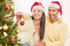 Happy Christmas couple Royalty Free Stock Image