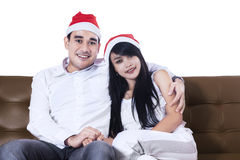 Happy christmas couple Royalty Free Stock Photos