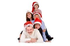 Happy christmas crowd Royalty Free Stock Photos
