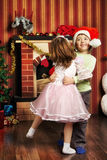 Happy Christmas Dance Royalty Free Stock Images