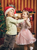 Happy Christmas Dance Stock Image