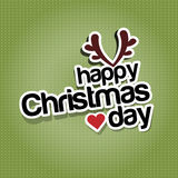 Happy christmas day Stock Image