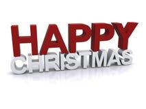 Happy Christmas display Stock Photography