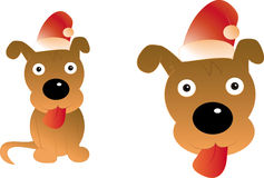 Happy Christmas Dog Royalty Free Stock Photos
