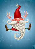 Happy Christmas elf Stock Image