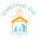Happy Christmas Eve logo. Vector illustration of happy Christmas Eve  on white background.  Happy Christmas Eve logo for greeting card template Stock Photography