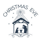 Happy Christmas Eve logo Royalty Free Stock Photo