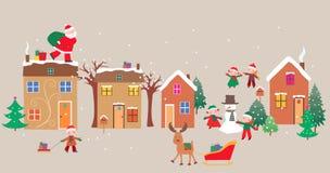 Happy christmas eve Stock Photo
