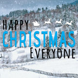 Happy christmas everyone inspirational quote Stock Photos