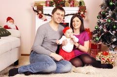 Happy Christmas family Stock Photography