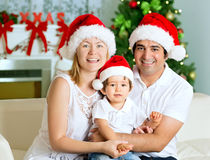 Happy Christmas family Stock Images