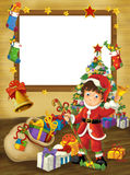 Happy christmas frame - border - illustration for the children Royalty Free Stock Photos