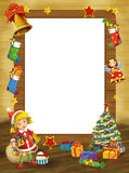 Happy christmas frame - border - illustration for the children Stock Images