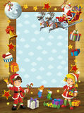 The happy christmas frame - illustration for the children Royalty Free Stock Photography