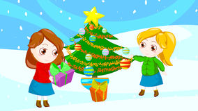 Happy christmas friends stock images