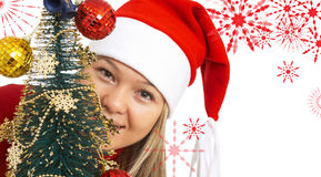 Happy christmas girl Stock Photos