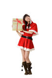 Happy christmas girl Royalty Free Stock Image