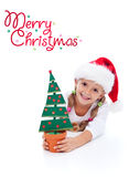 Happy christmas girl Royalty Free Stock Photos