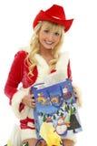 Happy christmas girl Stock Image