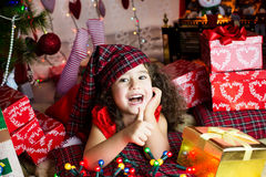 Happy christmas girl Royalty Free Stock Image