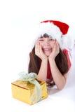 Happy christmas girl Royalty Free Stock Photo