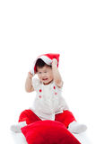Happy christmas girl palying happily Royalty Free Stock Image